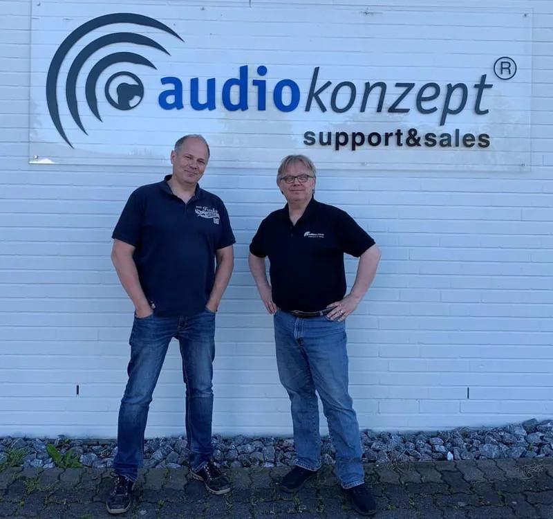 Matthias Meschkat, Jürgen Brüning (von links, Foto: audiokonzept)