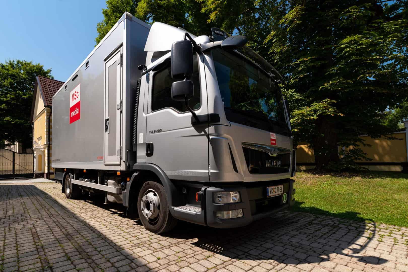 Mobiler Aufnahmewagen (Fotos: MSc Media & Management GmbH)