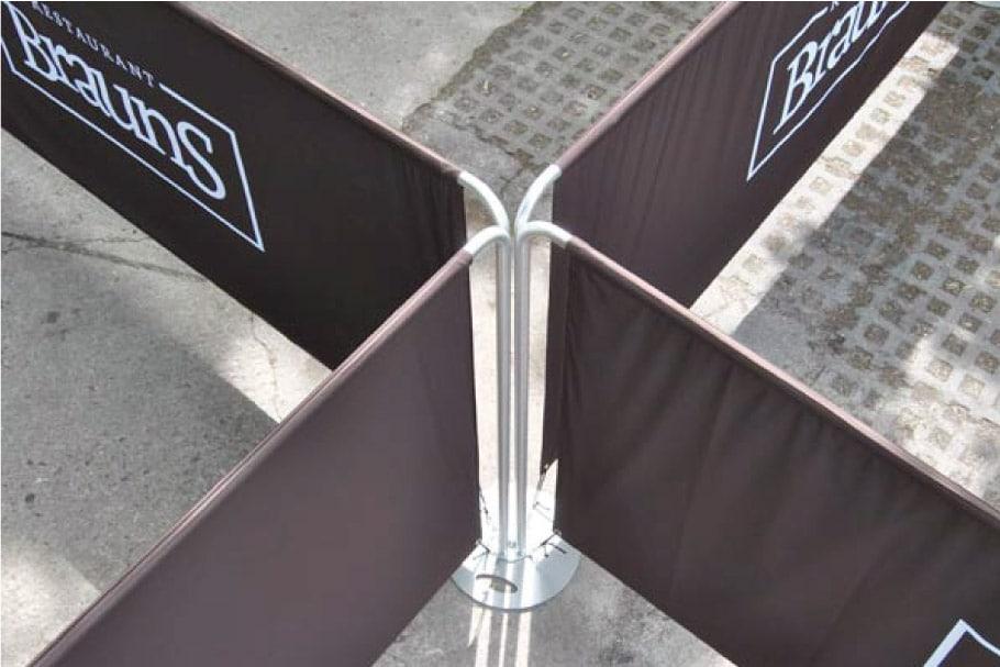 Mobile Absperrsystem MAS (Fotos: Signa-Werbung)