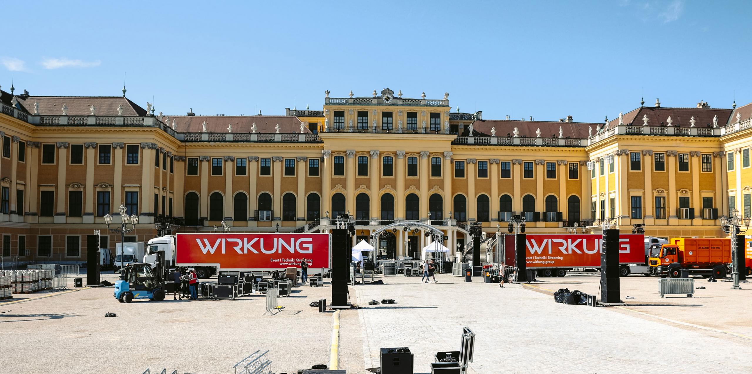 Einsatz am Schloss Schönbrunn in Wien (Foto: Wirkung live GmbH)