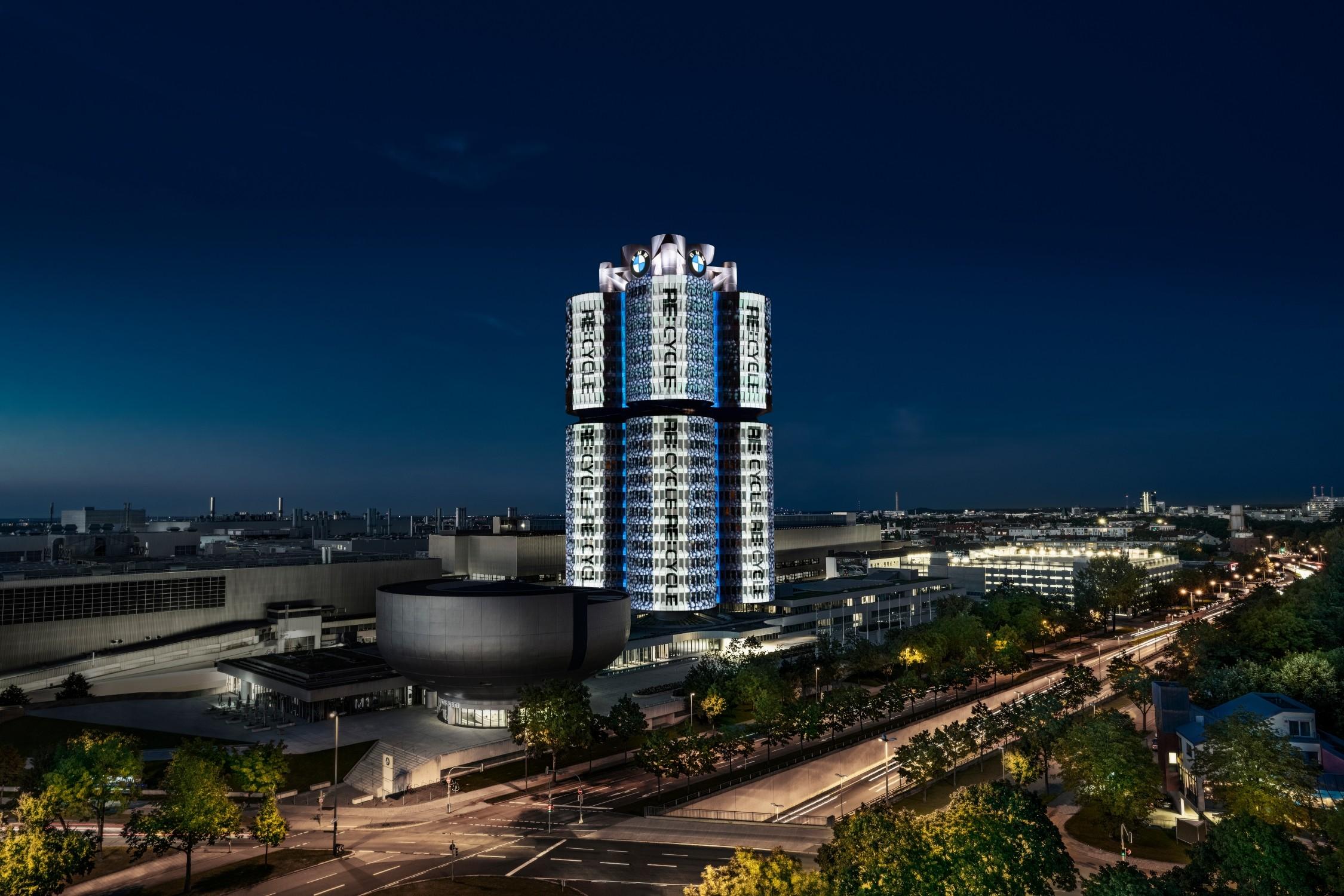 Projektionsshow in München (Fotos: BMW Group)