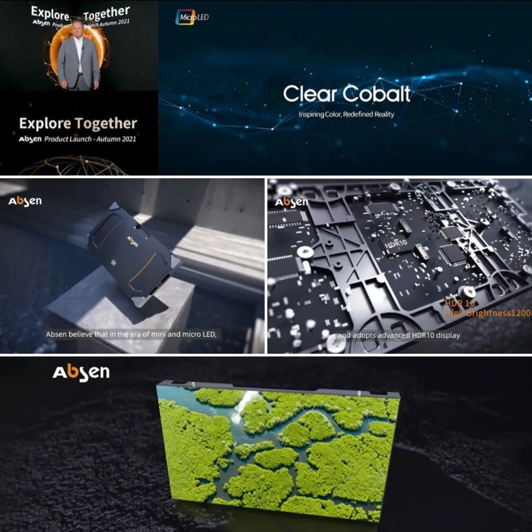Clear Cobalt-Serie beim Product Launch (Foto: Absen)